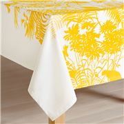 Florence Broadhurst - Shadow Floral Mustard Tablecloth 300cm