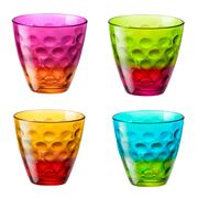 Bormioli Rocco - Vibrante Dot Multicoloured Tumbler Set 4pce