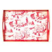 Michel Design - Christmas Wonderland Decoupage Large Tray