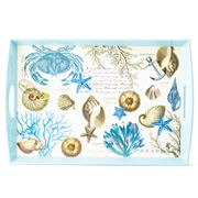 Michel Design - Seashore Wooden Decoupage Large Tray