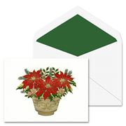 Crane & Co - Hand Engraved Poinsettia Greeting Cards