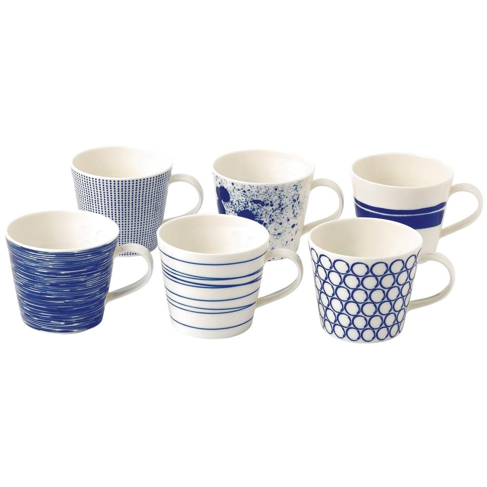 royal doulton pacific mug set 6pce peter 39 s of kensington. Black Bedroom Furniture Sets. Home Design Ideas