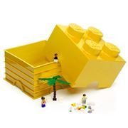 LEGO - Yellow Storage Brick 4 Studs