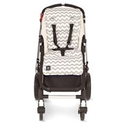 Travel Comfy - Grey Chevron Cotton Pram Liner