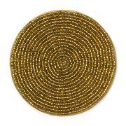 Lintex Linens - Gold Beaded Coaster