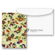 Eighty Days - Floral Gold On Cream Greeting Card