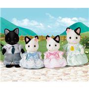 Sylvanian Families - Tuxedo Cat Family