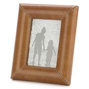 OneWorld - Tan Leather Photo Frame 5x7