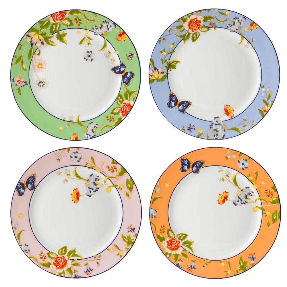 Aynsley Windsor Cottage Garden Plate Set 4pce Peter 39 S