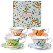 Aynsley - Windsor Cottage Garden Teacup & Saucer Set 4pce