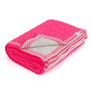 DLUX - Misty Rose Cotton Knit Bassinet Blanket