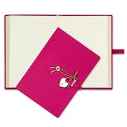 Graphic Image - Heart Locked Pink Leather Diary