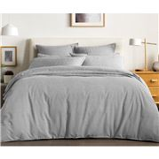 Sheridan - Reilly Standard Quilt Cover Set Fog Queen 3pce