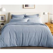Sheridan - Reilly Standard Quilt Cover Set Chambray Queen