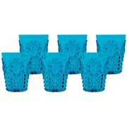 Baci Milano - Turquoise Water Glass Set 6pce