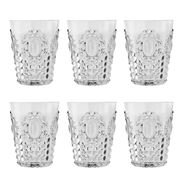 Baci Milano - Baroque Clear Water Tumbler Set 6pce