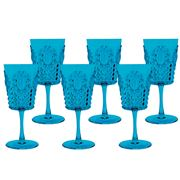 Baci Milano - Turquoise Wine Glass Set 6pce