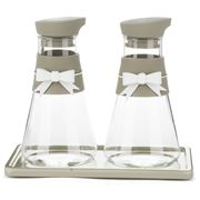 Baci Milano - Chick & Pastel Taupe Oil and Vinegar Set 2pce