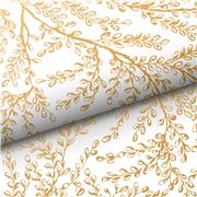 Vandoros -  Harmony White and Gold Wrapping Paper