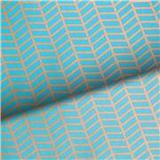 Vandoros - Metropolis Turquoise & Gold Wrapping Paper