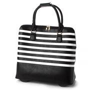 Condura - Callie Black & White Striped Trolley Bag
