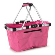 D Line - Shop & Go Pink Carry Basket