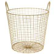 Robert Gordon - Brass Finished Small Deep Wire Basket