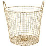 Robert Gordon - Brass Finished Medium Deep Wire Basket