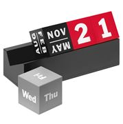MoMA - Cubes Red, Grey and Black Perpetual Calendar