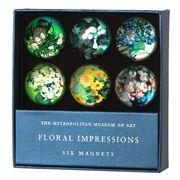 Metropolitan - Floral Impressions Glass Magnet Set 6pce