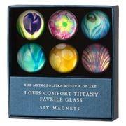 Metropolitan - Louise C. Tiffany Favrile Magnet Set 6pce