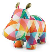 Zuny - Classic Hippo Kaleidoscope Red and Orange Bookend