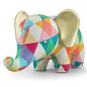 Zuny - Classic Elephant Kaleidoscope Red and Orange Bookend