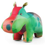 Zuny - Classic Hippo Kaleidoscope Green and Blue Bookend