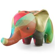 Zuny - Classic Elephant Kaleidoscope Green & Blue Bookend