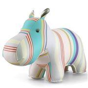 Zuny - Classic Hippo Cosy Stripe Blue and Purple Bookend