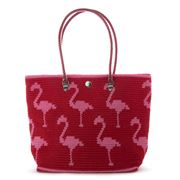 Skipping Girl - Flamingo Pink & Red Carry All Bag