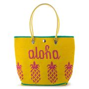 Skipping Girl - Aloha Yellow & Pink Carry All Bag