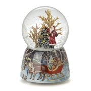 Roman Christmas - Santa with Christmas Tree Glitterdome