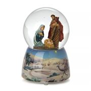 Roman Christmas - Holy Family Glitter Dome
