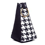 ART - Brass Ring Houndstooth Pyramid Doorstop