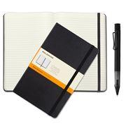 Lamy - Al-Star Black Ballpoint w/ Classic Moleskine Notebook