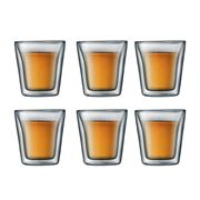 Bodum - Canteen Small Double-Walled Thermo Glass Set 6pce