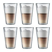 Bodum - Canteen Large Double-Walled Thermo Glass Set 6pce