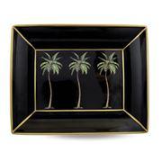Halcyon Days - Palm Black Trinket Tray