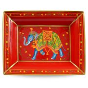 Halcyon Days - Ceremonial Elephant Red Trinket Tray