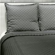 Ann Gish - Diamond Charcoal Queen Coverlet