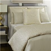 Ann Gish - Linea Coverlet Set Ivory Queen 3pce