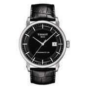Tissot - Luxury Powermatic 80 Black Dial & Strap Watch