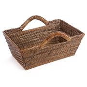 Calaisio - Rectangular Basket with Handles 32x22cm